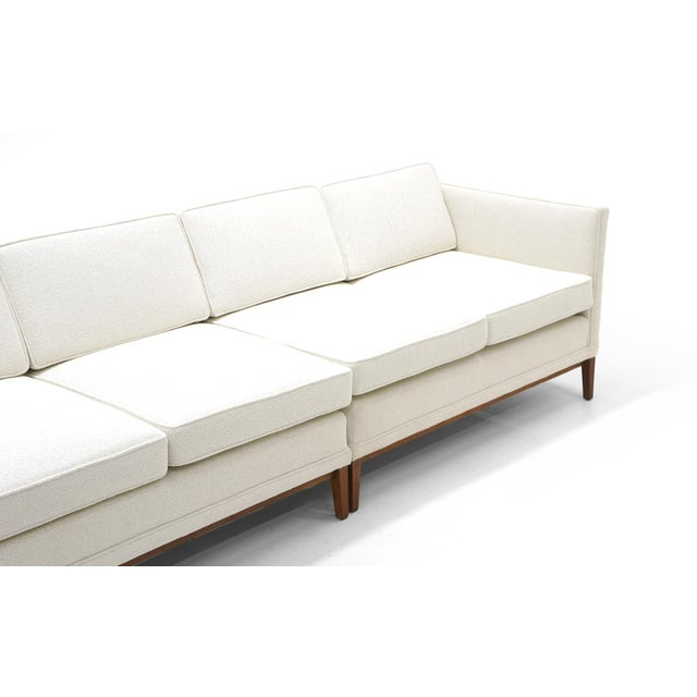 Sectional Sofa, Five-Seat, Two-Piece, Even Arm, Off White, Restored, Excellent For Sale - Image 4 of 8