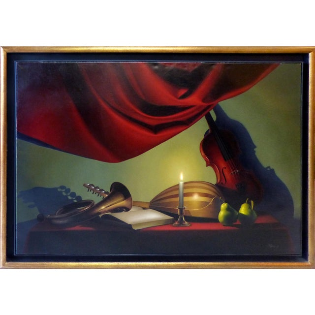 Candle-Lit Still Life Oil Painting by Nicolas Fasolino - Image 2 of 11
