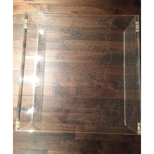 New York City Map Etched Acrylic Coffee Table - Image 5 of 6