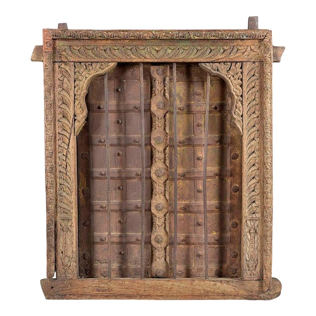 Antique Hand Carved Decorative Window For Sale