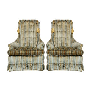 1975 Clayton Marcus Club Chairs - a Pair For Sale