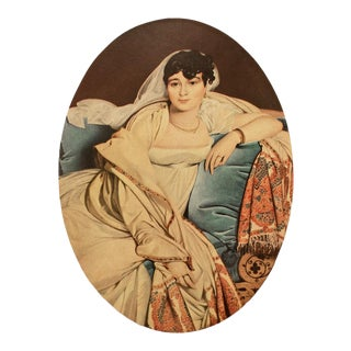 "1951 Jean-Auguste-Dominique Ingres ""Madame Riviere"", First Edition Parisian Photogravure For Sale"
