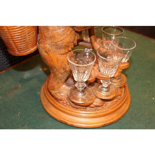 Crystal 1900s Black Forest Liquor Set For Sale - Image 7 of 9