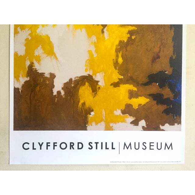 """Abstract Clyfford Still Abstract Expressionst Offset Lithograph Print Museum Poster """" Ph - 321 """" 1948 For Sale - Image 3 of 13"""