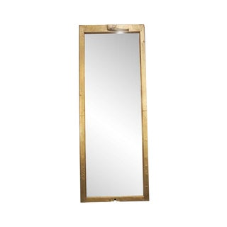 Reclaimed Brass Window Dressing Mirror For Sale