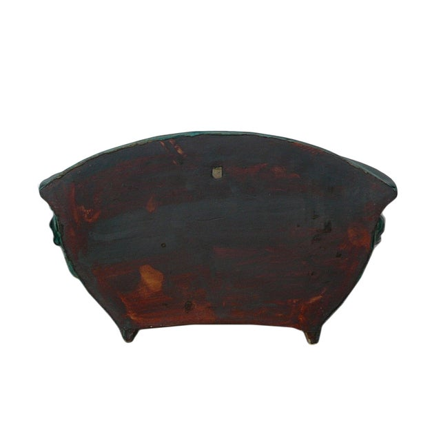 Chinese Ceramic Dimensional Flower Wall Planter For Sale - Image 5 of 6