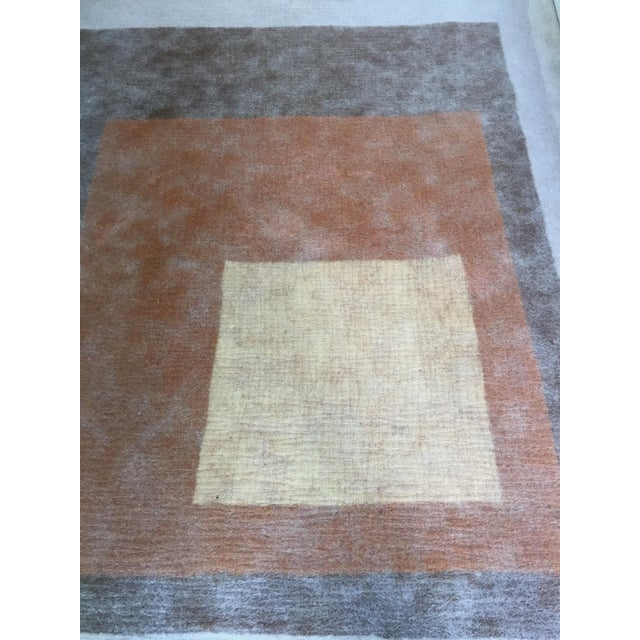 Brown Peace Industry Handmade Rug - 8' x 10' For Sale - Image 8 of 8