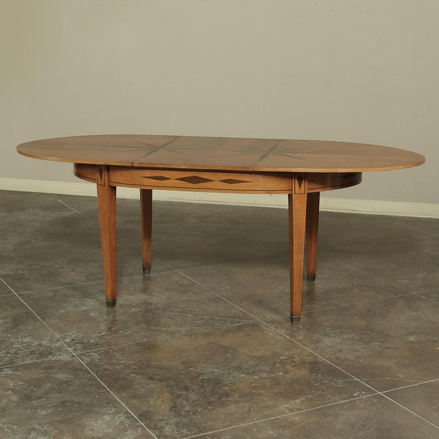 Mid-Century French Directoire Style Inlaid Table For Sale - Image 11 of 13