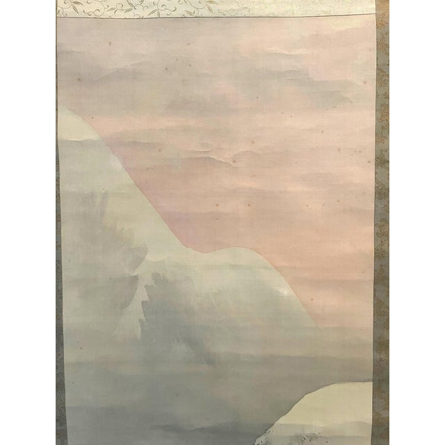 Paper Japanese Ink and Wash Scroll Painting by Watanabe Seitei For Sale - Image 7 of 13
