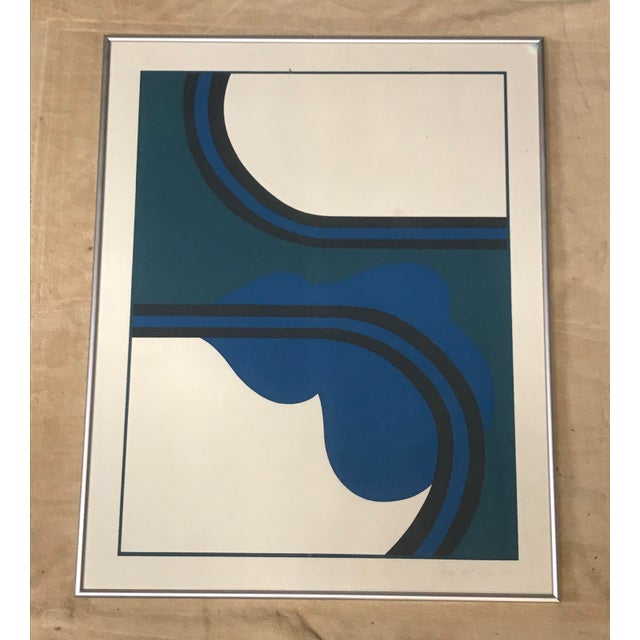 Abstract 1970 Abstract Silkscreen of Una by Judith Azur For Sale - Image 3 of 3
