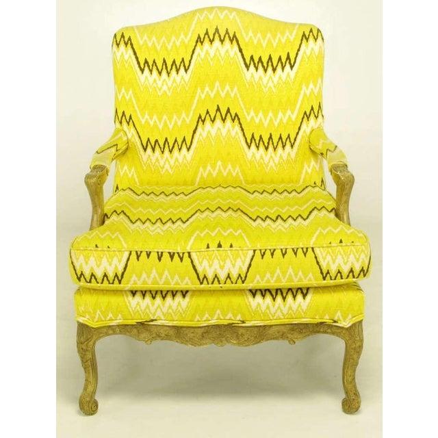 Pair Erwin-Lambeth Louis XV Style Arm Chairs & Ottoman - Image 2 of 10