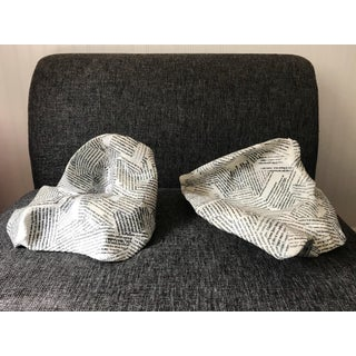 Artist Signed Paper Mache Typography Bowl Sculptures -A Pair Preview