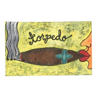 Mid Century Torpedo Painting For Sale
