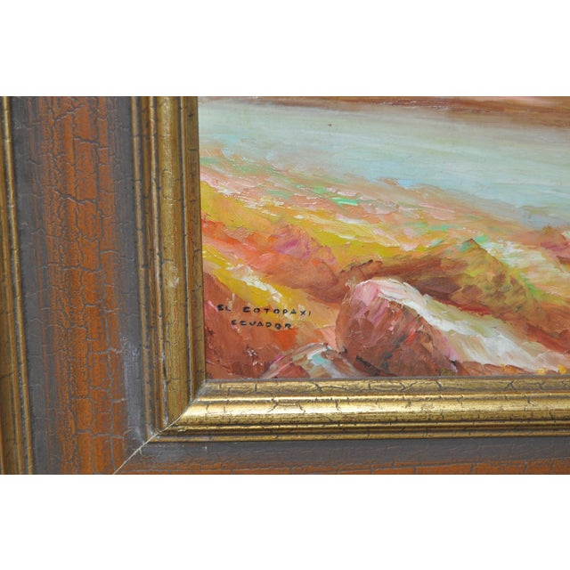 1950s Ecuadorian Mountain Village Painting For Sale In San Francisco - Image 6 of 7