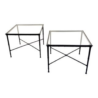 1960s Vintage Brown Jordan Calcutta Collection Patio Side Tables - A Pair For Sale
