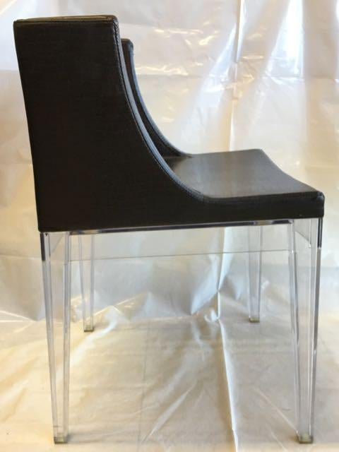 Contemporary Philippe Starck For Kartell Mademoiselle Cocco Chairs   A Pair  For Sale   Image 3