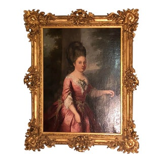 18th Century Engagement Portrait of Young Princess Ordered by the Duke D' Alefotres For Sale