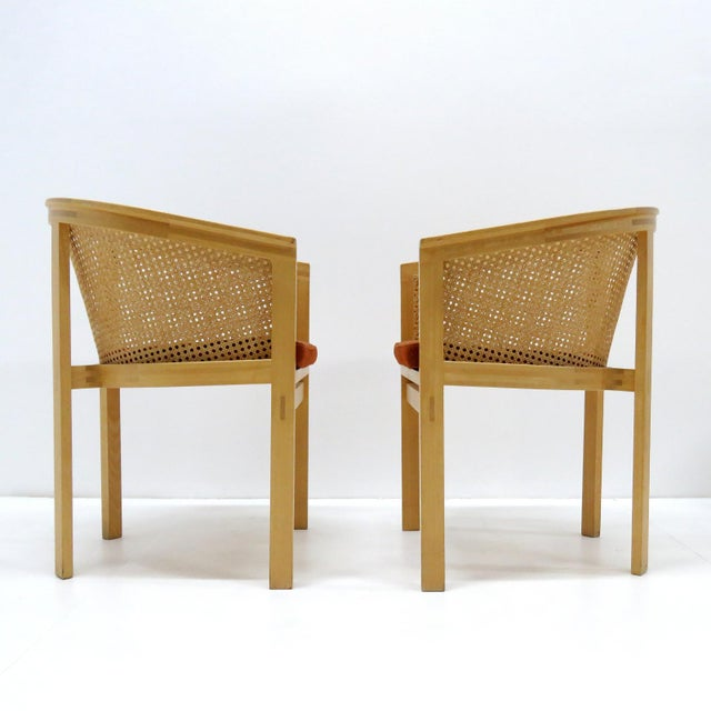 Rud Thygesen and Johnny Sorensen 1980s Vintage Rud Thygesen & Johnny Sørensen Model 7703 King Series Armchairs- A Pair For Sale - Image 4 of 13