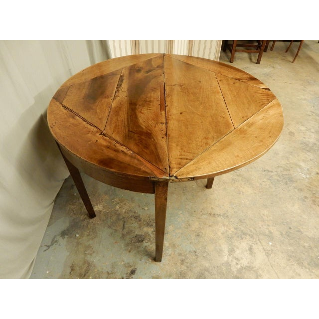 Walnut Early 19th C. French Provincial Game Table For Sale - Image 7 of 8