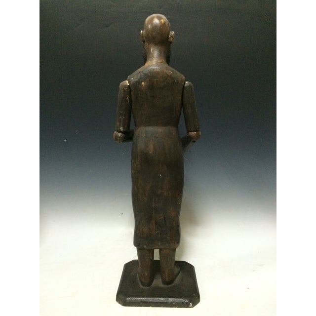 Male Carved Wood Articulated Mannequin - Image 4 of 6