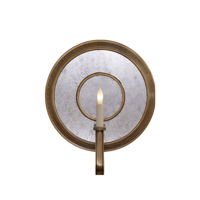 Hand-rubbed antique brass wall sconce Antiqued Mirror Socket: 1 - 60W Type C