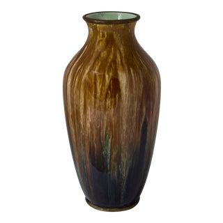 1920s Vintage Boch Freres Flambe Glaze Vase For Sale