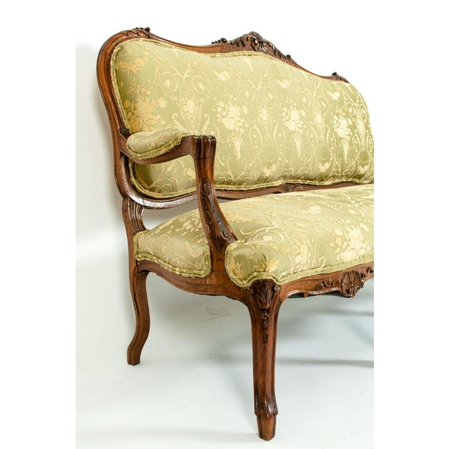 Mid-19th Century Mahogany Wood Frame Salon Suite - 3 Pc. Set For Sale In New York - Image 6 of 13