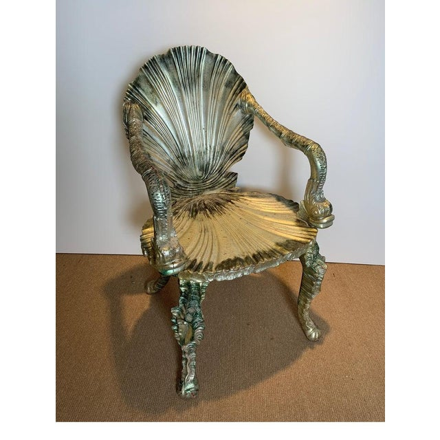 Hollywood Regency Early 20th Century Antique Silver Leaf Grotto Chairs- A Pair For Sale - Image 3 of 13