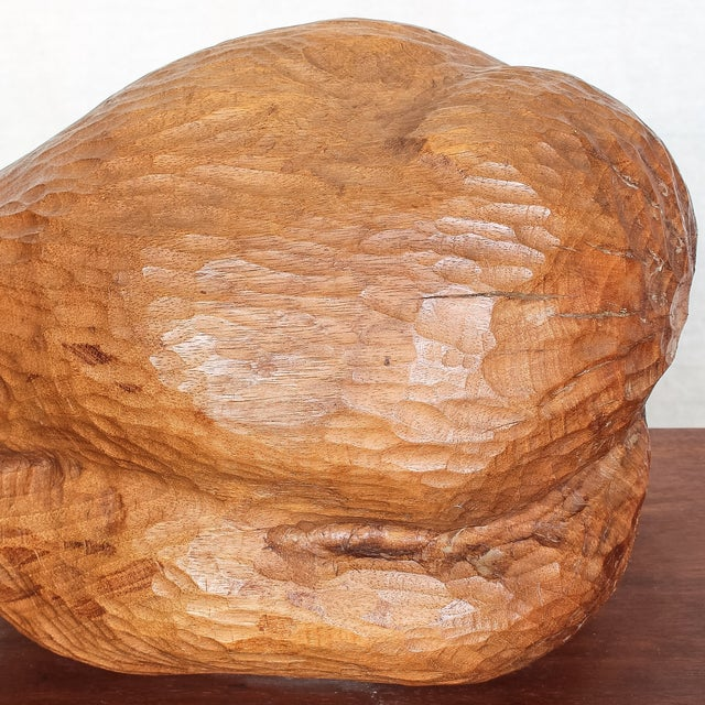 Mid-Century Modern Carved Nude Torso Sculpture - Image 10 of 10