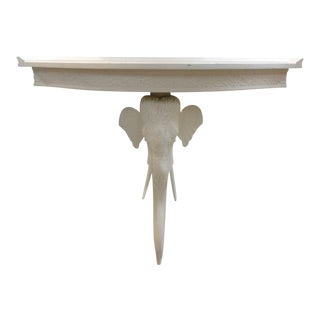 Elephant Demilune Console Table For Sale
