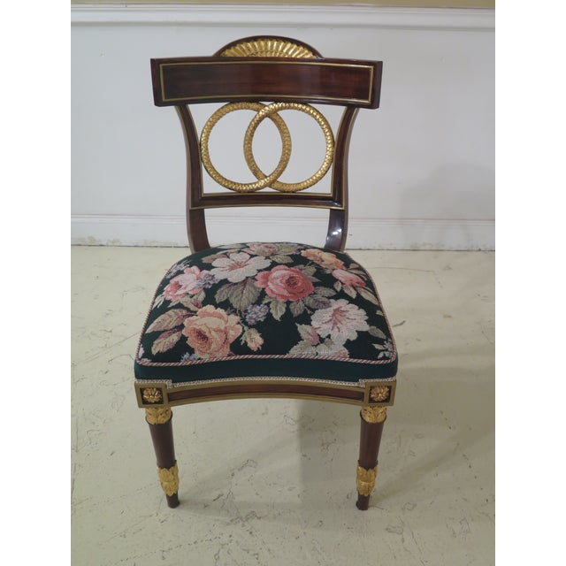 1970s Italian Regency Style Dining Room Chairs- Set of 10 | Chairish