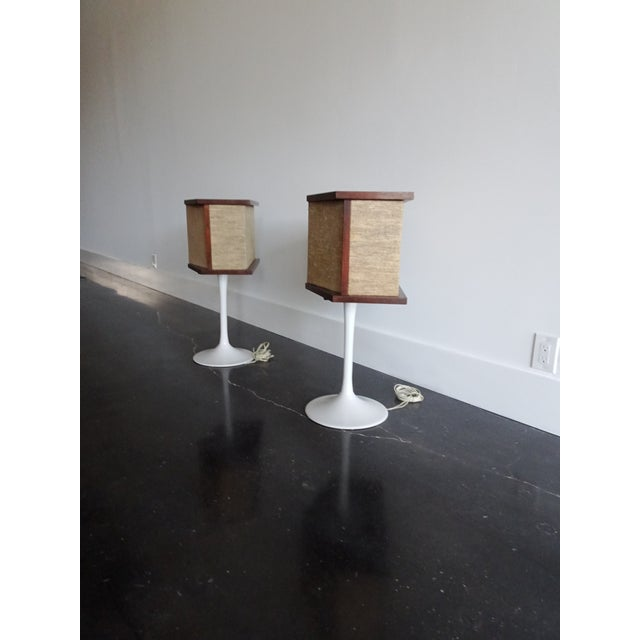 1970s 1970s Vintage Bose Speakers on Pedestal Tulip Bases - a Pair For Sale - Image 5 of 12