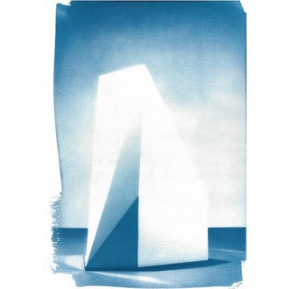 Sol Lewitt Complex Form Sculpture, Cyanotype Print on Watercolor Paper, A4 Size (Limited Edition) For Sale