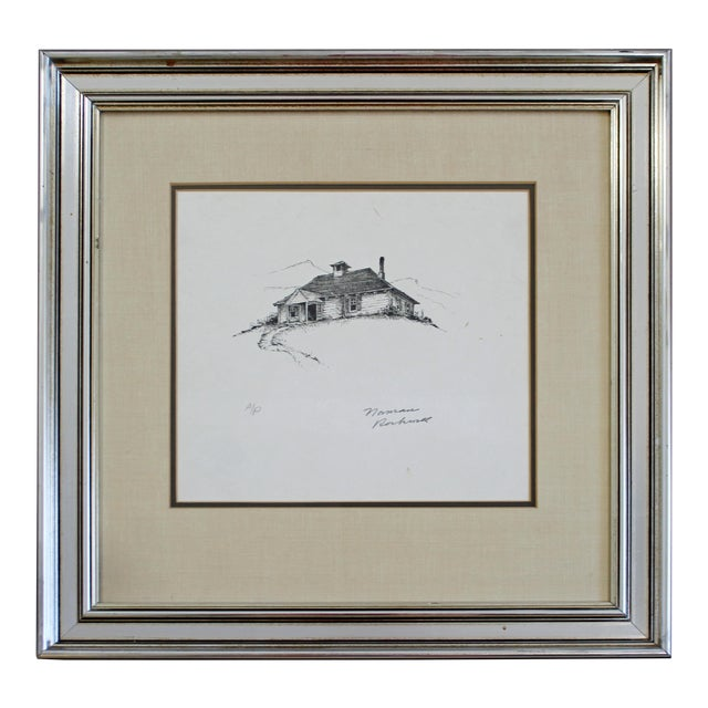 20th Century Framed Modern Illustration a.p. Litho Signed Norman Rockwell 1947 For Sale