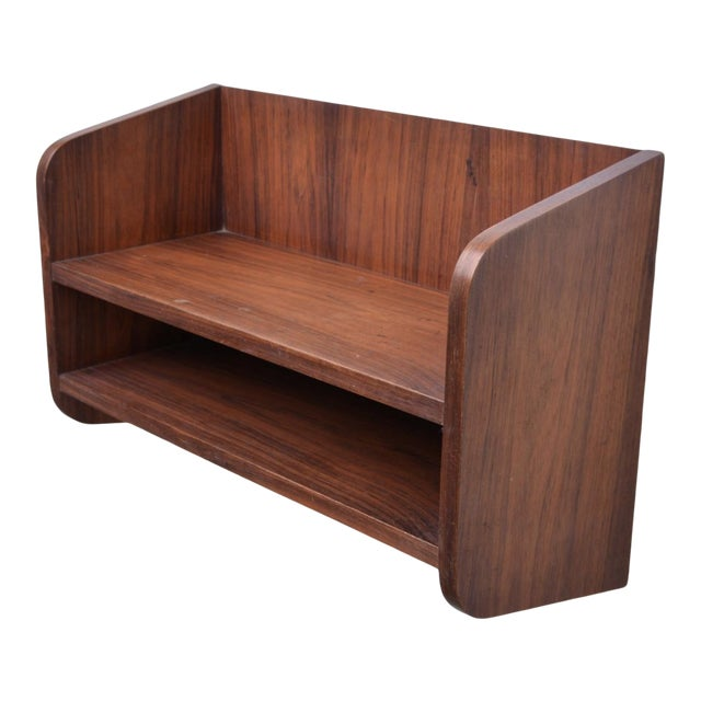 Small Danish Rosewood Wall Shelf, 1960s For Sale