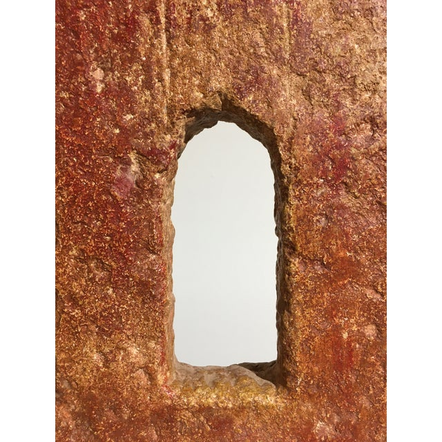 Red Indian Carved Stone Architectural Window Element For Sale - Image 8 of 8