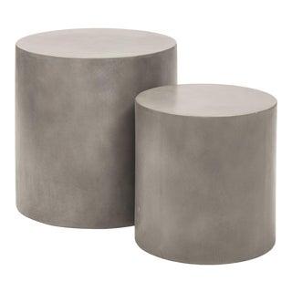 Una Pedestal (Set of 2), Dark Grey For Sale