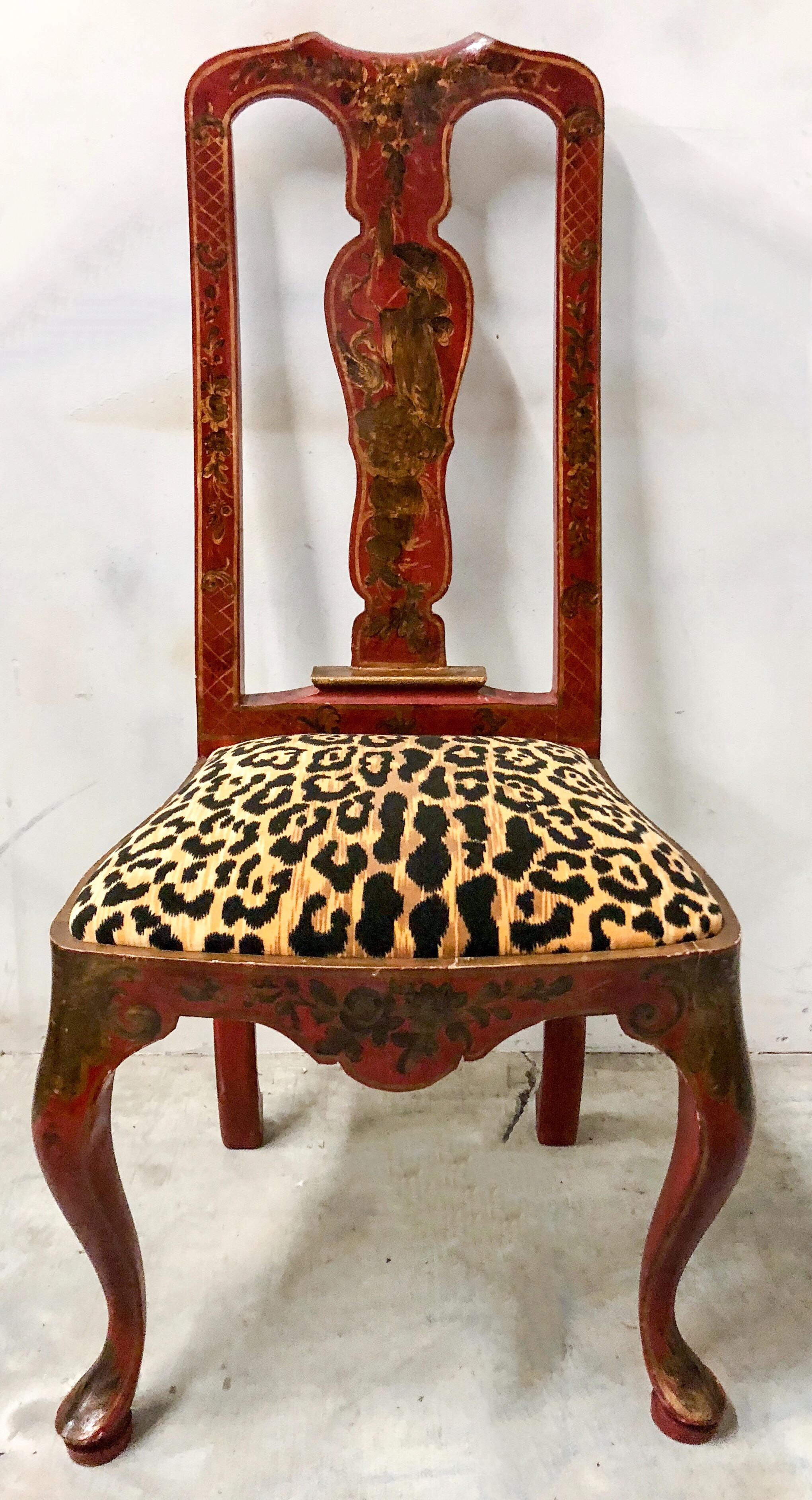 Chinoiserie Queen Anne Side Chairs   A Pair   Image 2 Of 9