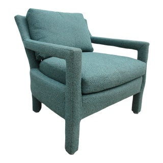 Vintage Mid-Century Modern Parsons Style Club Chair For Sale