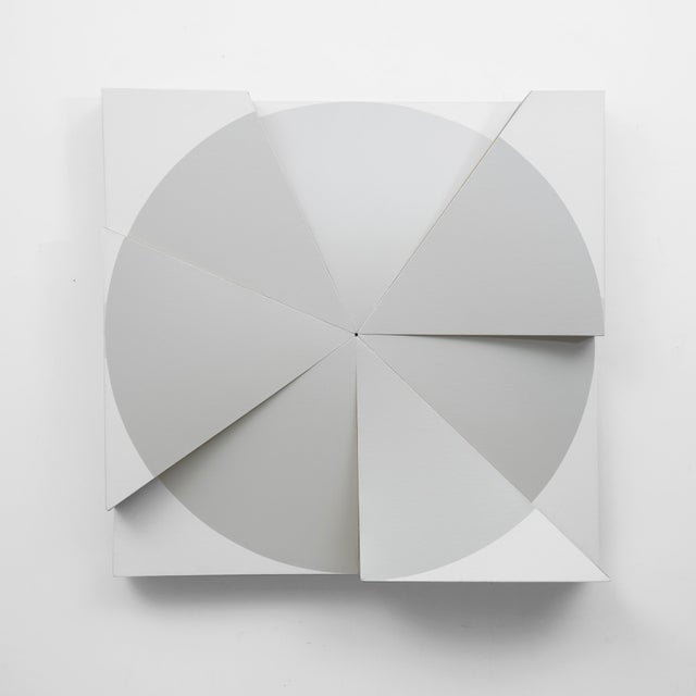 Jan Maarten Voskuil 'Roundtrip Pointless Grey Pearl' Acrylics on Linen, 2018 For Sale - Image 4 of 4