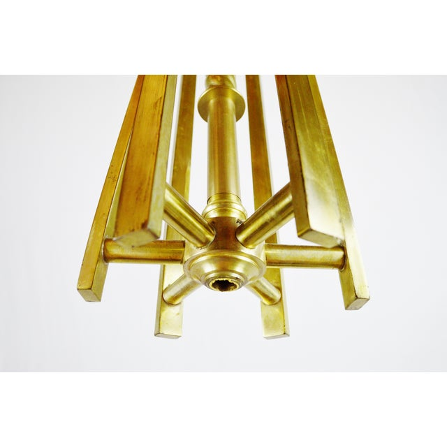 Art deco brass chandelier body chairish art deco brass chandelier body image 11 of 12 mozeypictures Image collections