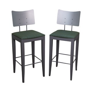 Tenon Italian Modern Bar Stools -- A Pair For Sale