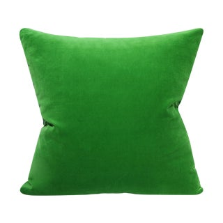 Kelly Green Velvet Pillow Cover-20x20 For Sale