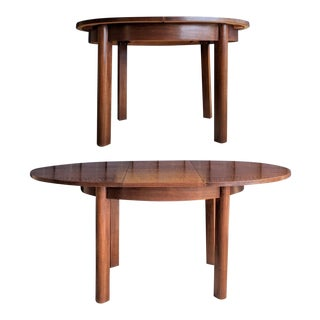 Dutch Modernist Oval Dining Table With Butterfly Leaf For Sale