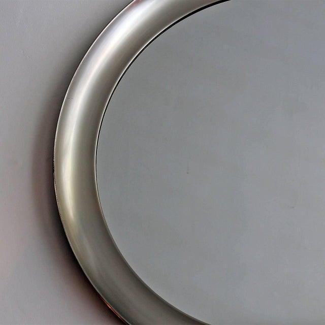 1960´s Narciso mirror by Sergio Mazza, aluminium frame - Italy For Sale - Image 6 of 9