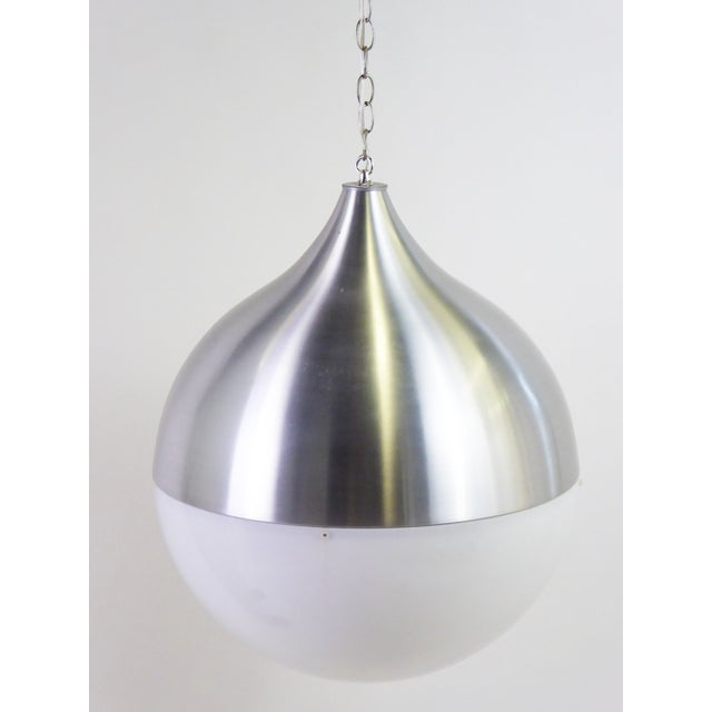 1960s Danish Modern Aluminun & Acrylic Teardrop Shaped Globe For Sale - Image 13 of 13