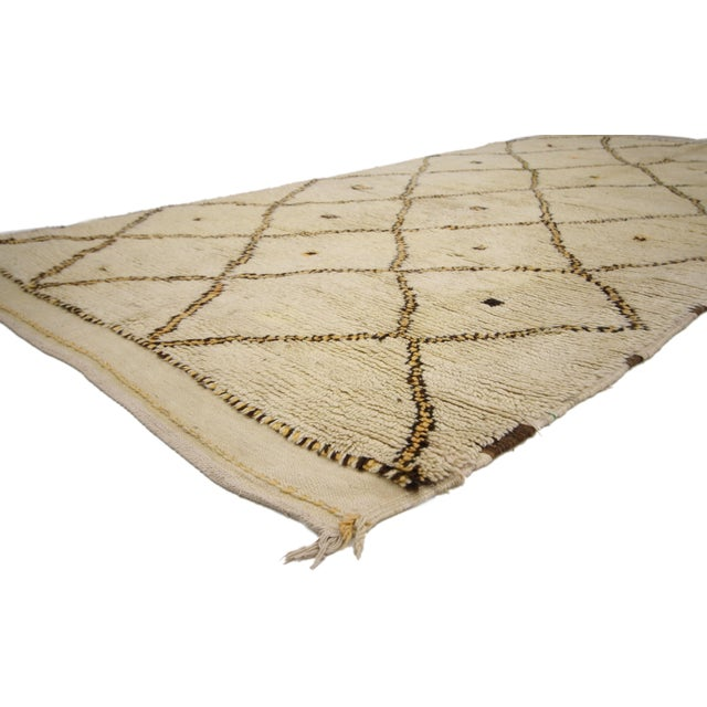 Boho Chic Vintage Berber Moroccan Azilal Rug -- 4'10 x 9' For Sale - Image 3 of 7