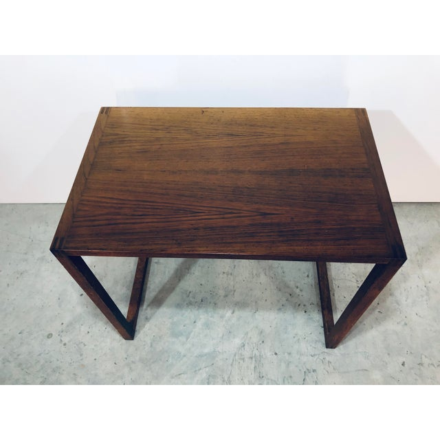 Wood Karl-Erik Ekselius Nesting Tables for j.o. Carlsson - 2 Pieces For Sale - Image 7 of 13