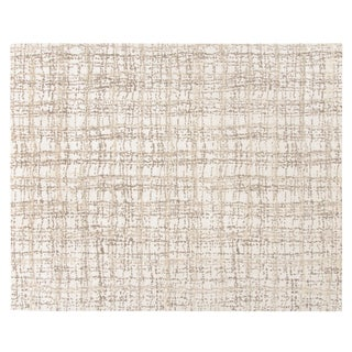 Stark Studio Rugs Contemporary Ritner Bone 65% Bamboo Silk/35% Wool Rug - 10′2″ × 14′1″ For Sale