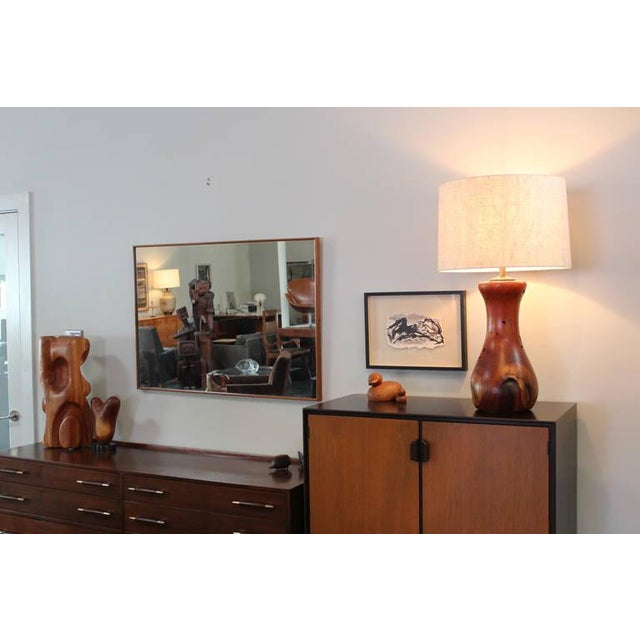 Hand-Crafted Mesquite Wood Lamp - Image 7 of 10